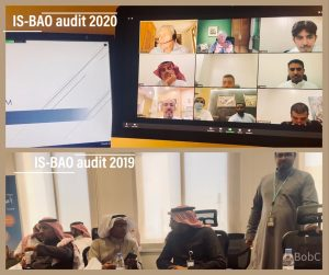 Safety Audit in Saudi Arabia live in 2019. Same audit conducted remotely on Zoom in 2020.